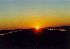 Sonnenaufgang über dem Schott el Djerid