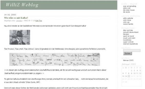 WilliZ Weblog 2005